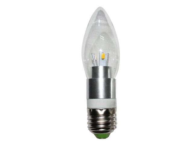 3Watt 6LEDs E26/E27 LED Candle Light Bulb - 3200K Warm White Candelabra Bulb - 30W Incandescent Replacement - 360° Omni-directional Chandelier Mate