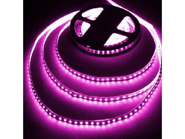PINK 16.4ft (5m) Flexible LED Strip Lights - 12V 600LEDs/pc 3528 - Non-waterproof IP-44