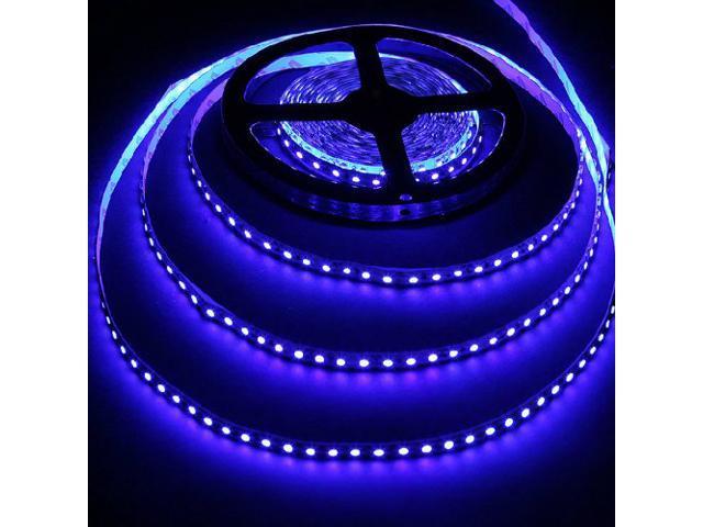16.4ft (5m) BLUE Flexible LED Strip Lights - 3528 SMD 600LEDs/pc - Non-waterproof IP-44