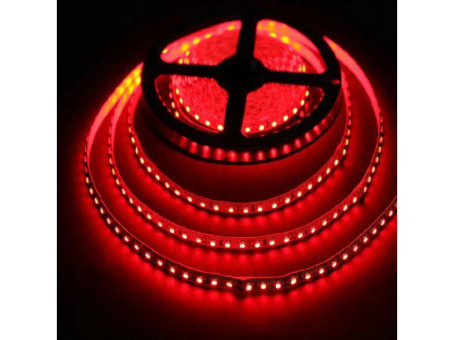 16.4ft (5m) RED Flexible LED Strip Lights - 3528 SMD 600LEDs/pc - Non-waterproof IP-44