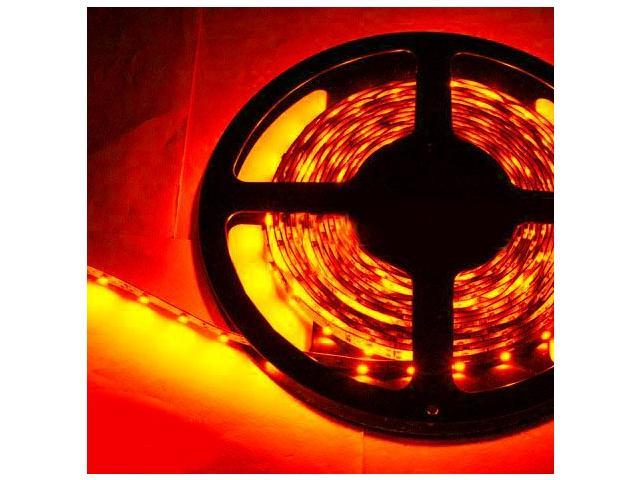 16.4ft (5m) RED Flexible LED Strip Lights - 3528 SMD 300LEDs/pc - Non-waterproof IP-44