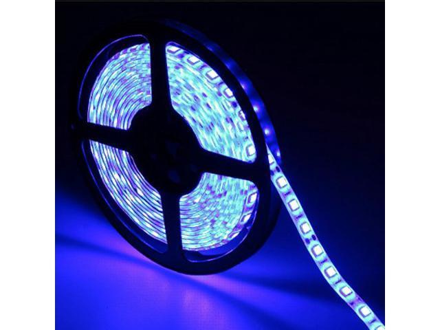 16.4ft (5m) BLUE Waterproof Flexible LED Strip Lights - 5050 SMD 300LEDs/pc LED Light Strip - Multifunctional LED Tape Light