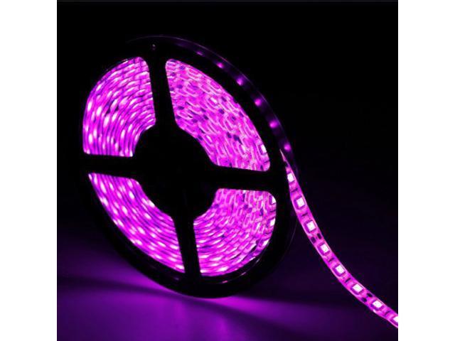 16.4ft (5m) PINK Waterproof Flexible LED Strip Lights - 5050 SMD 300LEDs/pc LED Light Strip - Multifunctional LED Tape Light