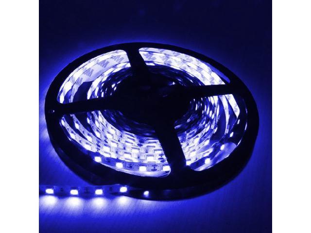 16.4ft (5m) BLUE Flexible LED Strip Lights - 5050 SMD 300LEDs/pc - Non-waterproof IP-44