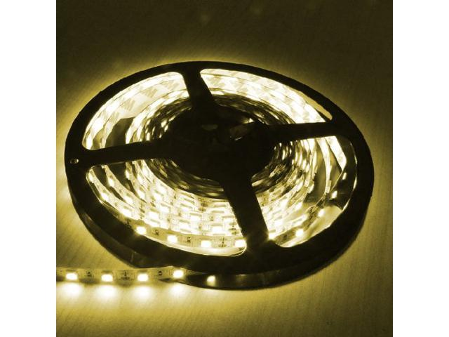 16.4ft (5m) YELLOW Flexible LED Strip Lights - 5050 SMD 300LEDs/pc - Non-waterproof IP-44