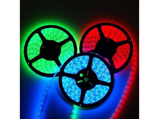 16.4ft (5m) RGB Waterproof Flexible LED Strip Lights - 5050 SMD 150LEDs/pc - Waterproof IP-65