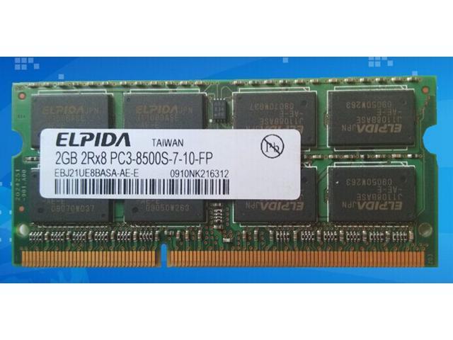 Micron ELPIDA 2GB DDR3 1066 PC3-8500S Laptop Memory RAM