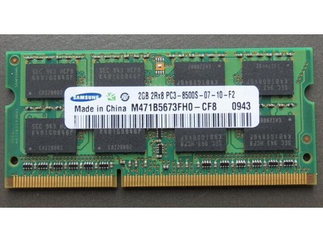 Samsung 2GB DDR3 1066 PC3-8500S Sodimm Laptop Memory RAM