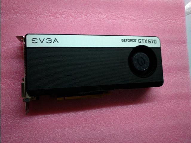 EVGA GeForce GTX670 2048MB GDDR5 256bit, 1344SP,2x Dual-Link DVI, HDMI, DP, 4-Way SLI Ready Graphics Card
