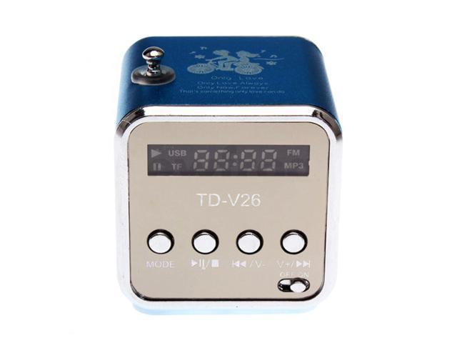 Mini USB Speaker Music Player FM Radio For Micro SD/TF PC iPod MP3 iPhone4 IP46L BLUE