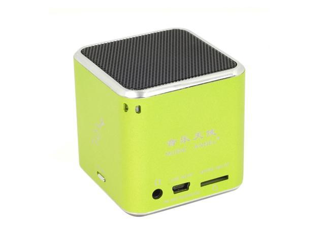 Mini USB Speaker Music Player FM Radio For Micro SD/TF PC iPod MP3 iPhone4 Green