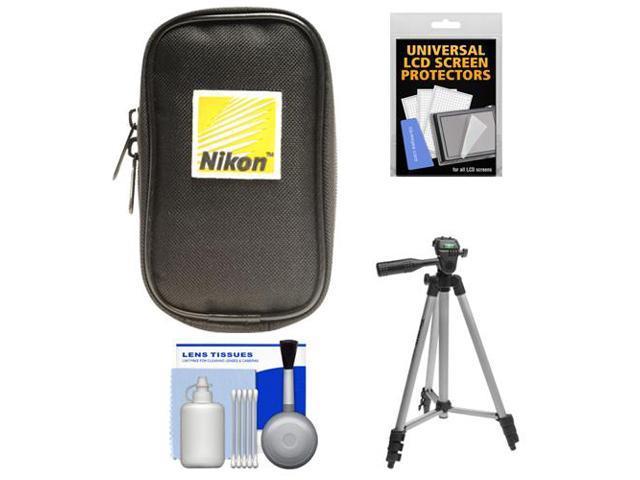 Nikon Coolpix Nylon Digital Camera Carrying Case with Tripod + Accessory Kit