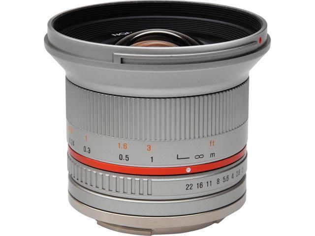 Rokinon 12mm f/2.0 Ultra Wide Angle Lens (Silver) (for Olympus/Panasonic Micro 4/3 Camera)