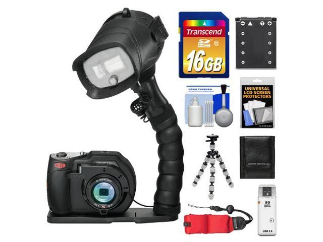 SeaLife DC1400 Pro 14MP HD Underwater Digital Camera with Flash & Flex Arm Bracket + 16GB Card + Battery + Tripod + Accessory Kit
