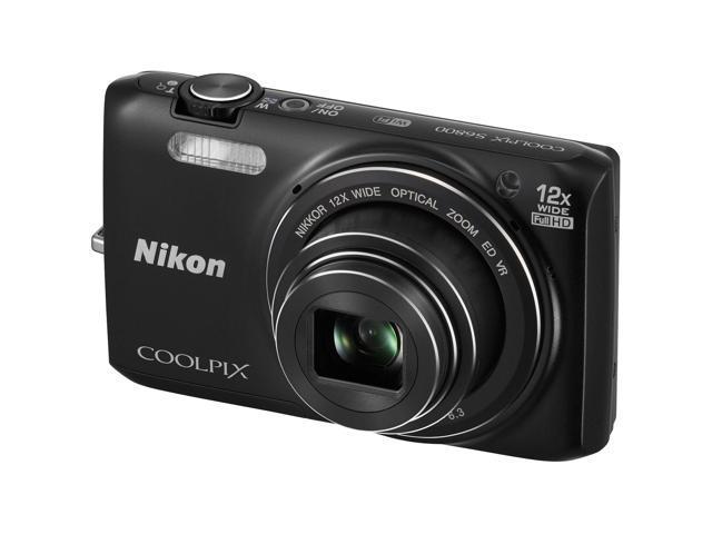 Nikon Coolpix S6800 Wi-Fi Digital Camera (Black) - Factory Refurbished includes Full 1 Year Warranty