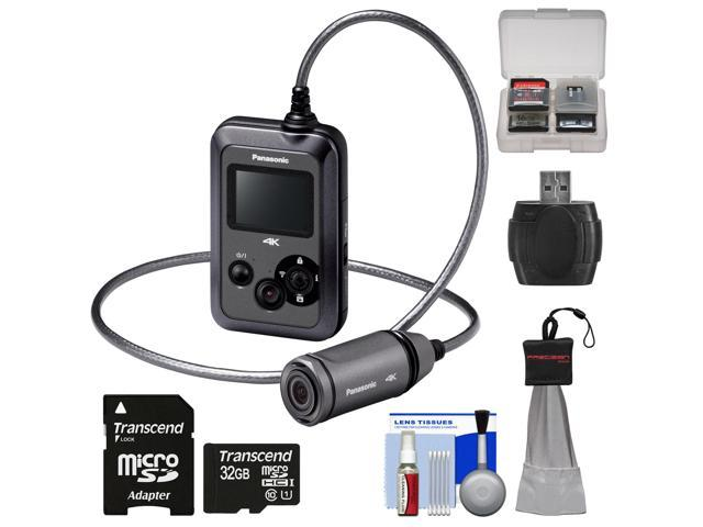 Panasonic HX-A500H 4K HD 25p POV Wearable Waterproof Video Camera Camcorder (Gray) with 32GB Card + Kit