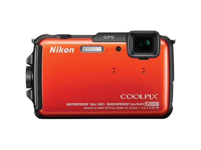 Nikon Coolpix AW110 Shock & Waterproof GPS Digital Camera - Orange