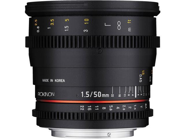 Rokinon 50mm T/1.5 DS Cine Lens (for Video DSLR Canon EOS Cameras)