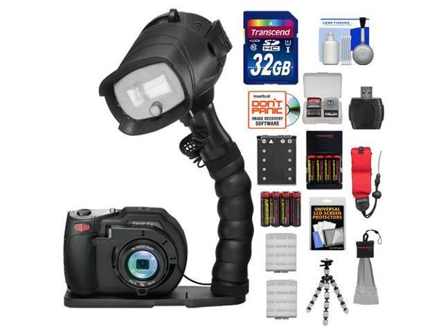 SeaLife DC1400 Pro 14MP HD Underwater Digital Camera with Flash & Flex Arm Bracket + 32GB Card + Battery + Tripod + Accessory Kit
