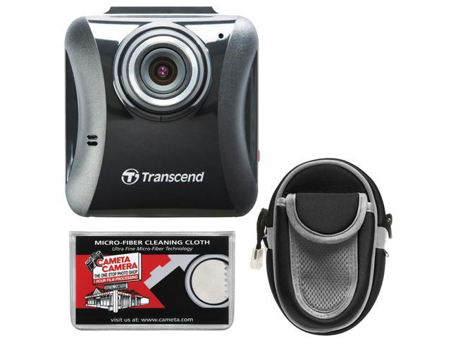 Transcend DrivePro 100 1080p Full HD Car Dashboard Video Recorder with Case + Cloth