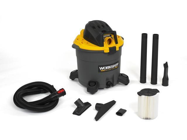 WORKSHOP Wet Dry Vacs WS1600VA High Capacity Wet Dry Shop Vacuum, 16-Gallon, 6.5 Peak HP