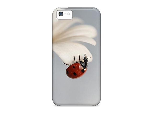 High Impact Dirt/shock Proof Case Cover For Iphone 5c (daisy With Ladybug)