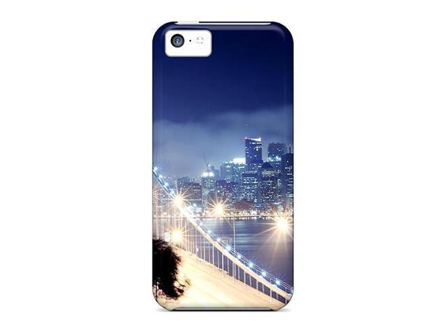 High Impact Dirt/shock Proof Case Cover For Iphone 5c (bridge Lights)