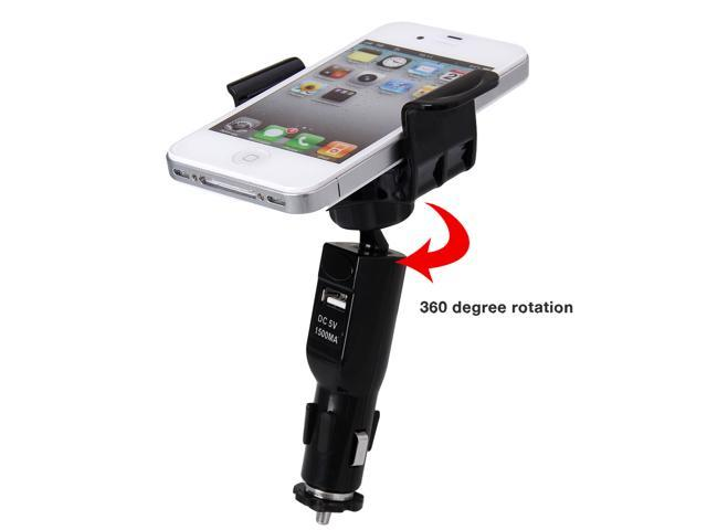 Excelvan 2 in 1 Car Cigarette Lighter Mount Holder Charger For iPhone 6 , iPhone 6 plus, HTC Desire 820,Samsung Galaxy Note 4,Meizu MX4, Sony ...