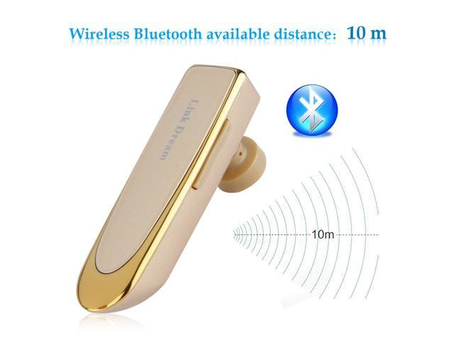 UP to 24 hrs Hodling Time Bluetooth In-ear Headphone Earphone for iPhone 6 SamsungS5 Note4 Laptop Gold