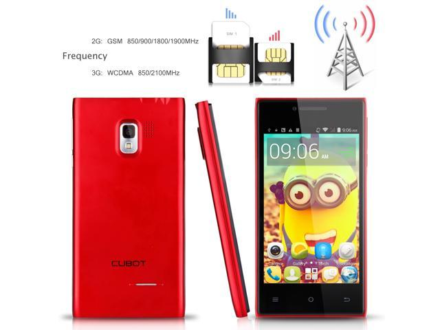 CUBOT GT72+ GT72 Plus 3G Smartphone Android 4.4 KitKat MTK6572 Dual Core Mobile Phone