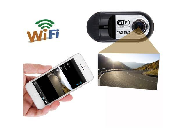 140 Degree Wide View Angle Lens FHD 1080p WiFi Smart Car DVR Wireless Camcorder