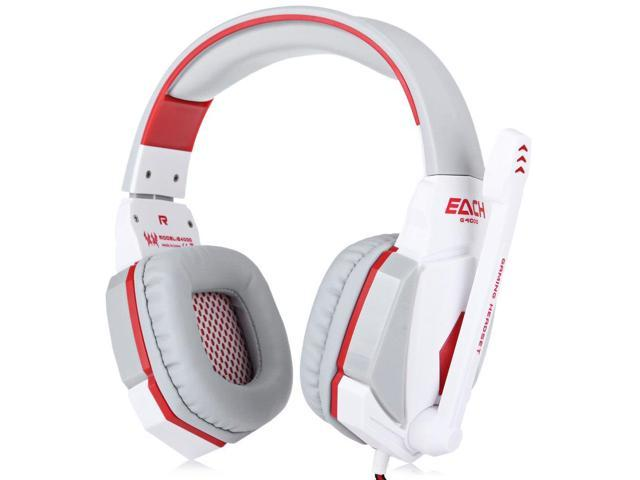 EACH G4000 Pro Gaming Headset Stereo Sound 2.2M Wired Headphone Noise Reduction with Microphone White