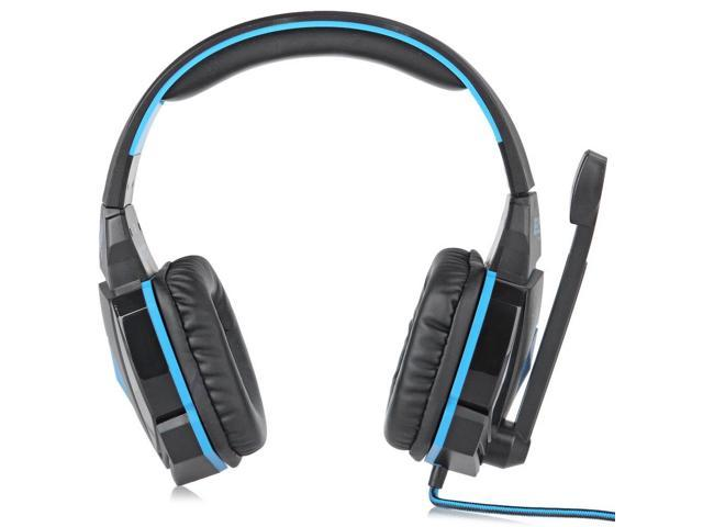 EACH G4000 Pro Gaming Headset Stereo Sound 2.2M Wired Headphone Noise Reduction with Microphone Blue