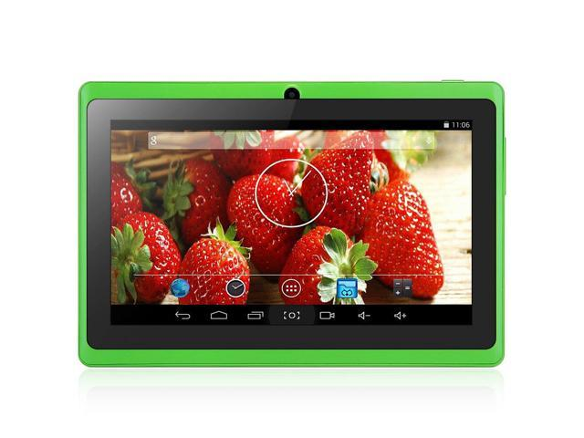 7 inch AOSD Q88S Android 4.4 Tablet PC ATM7021 Dual Core 1.3GHz WVGA Screen Dual Cameras 4GB ROM Green