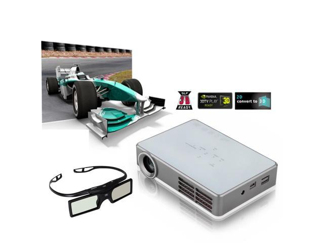 Excelvan Portable DLP Mini 3D HD Projector for Home Theater 2D Convert To 3D 1280*800