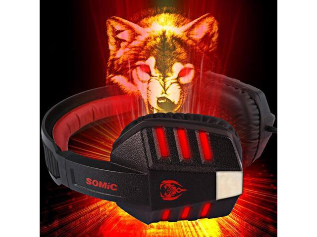 Somic G927PRO 7.1 Surround Sound USB Gaming Headset with Mic Volume Control for PC