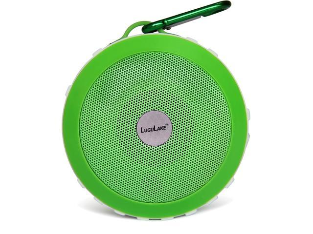 LuguLake Shockproof UFO Portable Bluetooth Handsfree Speaker System for All Bluetooth Devices (Green)