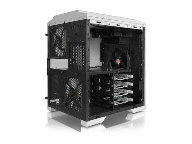 RAIJINTEK AENEAS WHITE, Removable M/B Frame and Tool-Free for ODD & HDD, Dust-Control Filters, 14025*2 & 12025*2 fans preinstalled, 0.8mm SGCC, ...