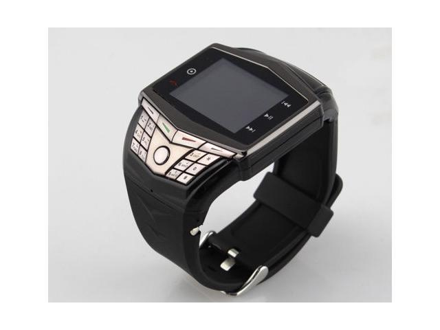 Black Unlocked 1.55in QWERTY GSM Wrist Watch Cell Phone Touch
