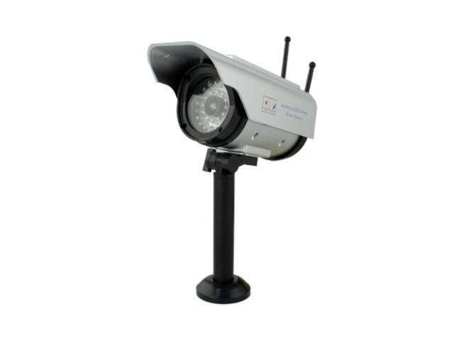 Waterproof Solar Power Dummy Fake Infrared LED Surveillance CCTV Security Camera