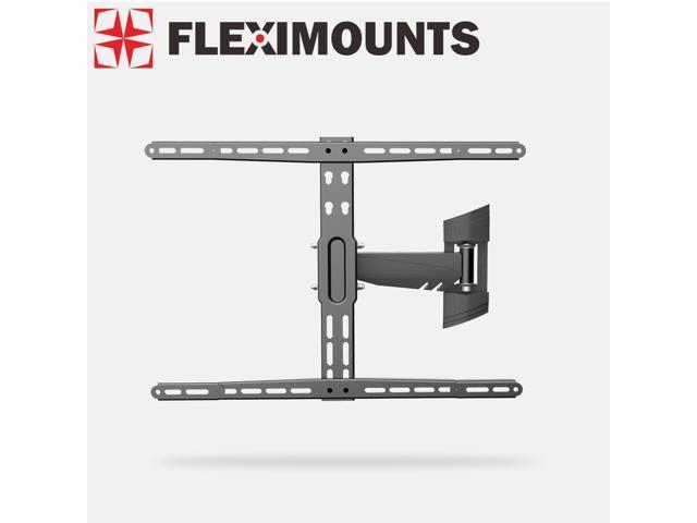 Fleximounts Articulating Arm Swivel Tilt LCD LED TV Wall Mount Bracket Super Low Profile Simple Design for 26 32 37 40 42 50 55 60 ...