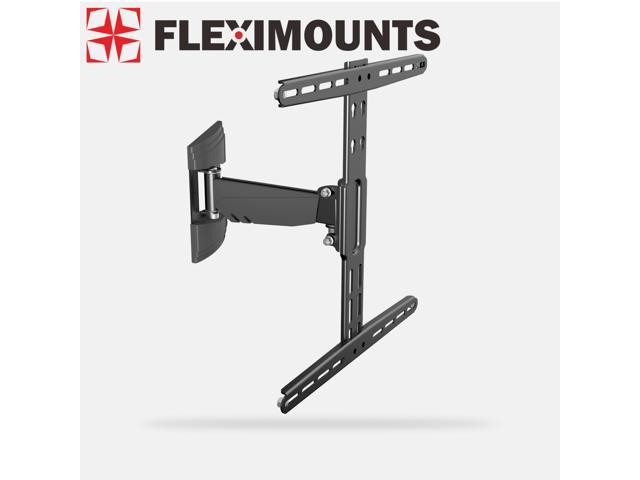 Fleximounts Articulating Arm Swivel Tilt LCD LED TV Wall Mount Bracket Super Low Profile Simple Design for 26 32 37 40 42 50 55 TV ...