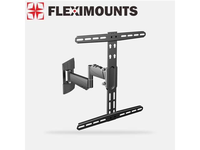 Fleximounts Extended Articulating Arm Swivel Tilt LCD LED TV Wall Mount Bracket Low Profile Simple Design for 26 32 37 40 42 50 TV w/ ...