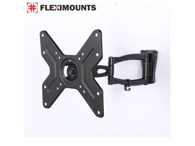 Fleximounts Articulating Arm Swivel Tilt LCD LED TV Wall Mount Bracket for 14 15 17 19 20 21 25 27 30 32 TV Size