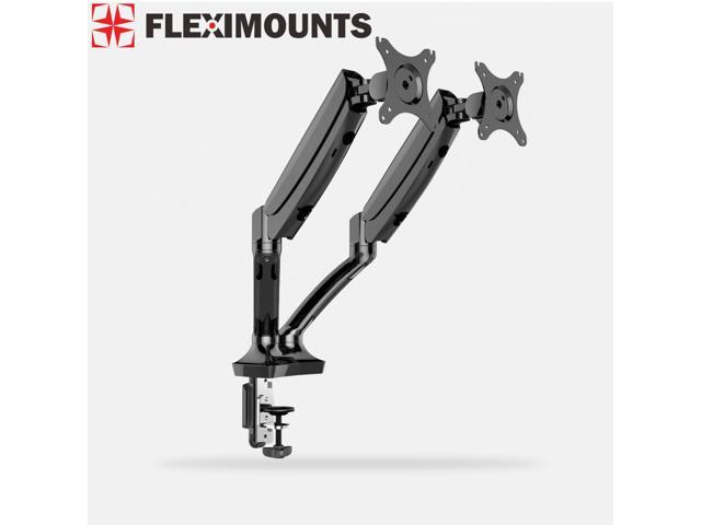Fleximounts M06 Full Motion Double Arms Dual Mount Arms Desktop Mount for 10''-27'' Computer Monitor
