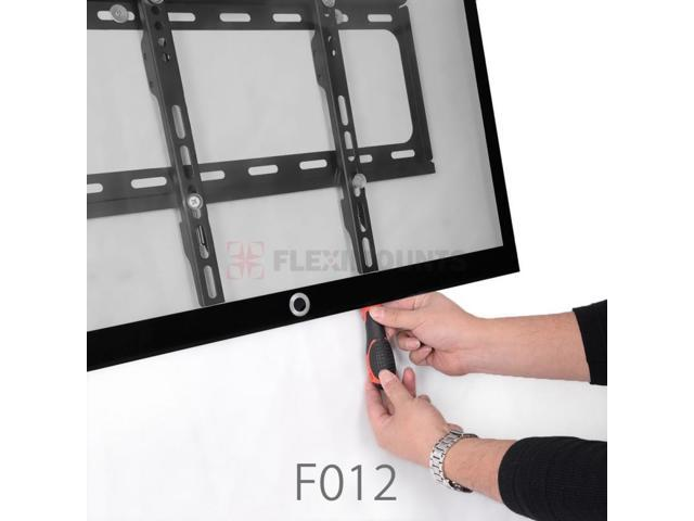 FLEXIMOUNTS Heavy Duty Low Profile Fixed TV Wall Mount for 26 28 29 32 42 47 49 50 55 TV Size w/ Bubble Level