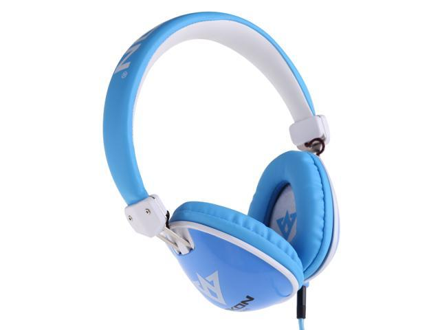 3.5mm Stereo Noise Cancelling Headset Headphone for iPhone Laptop Blue