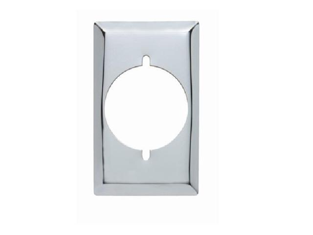 P & S S384-C 1-Gang Power Outlet Wall Plate, Smooth Chrome