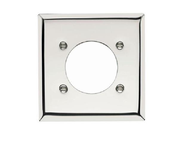 P & S S3862-C 2-Gang Power Outlet Wall Plate, Smooth Chrome