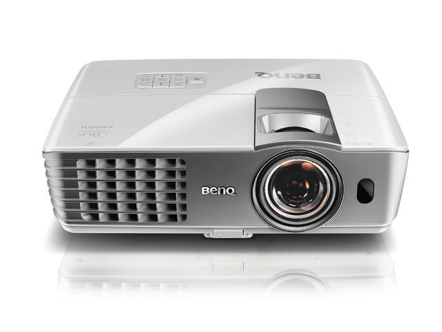 BenQ W1080ST 1920x1080 FHD 2000 ANSI Lumens, Short Throw Projection, Dual HDMI Inputs, Built-In Speakers, 3D Ready Colorific DLP Projector